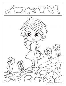 Spring Hidden Pictures Printable Preschool Worksheets