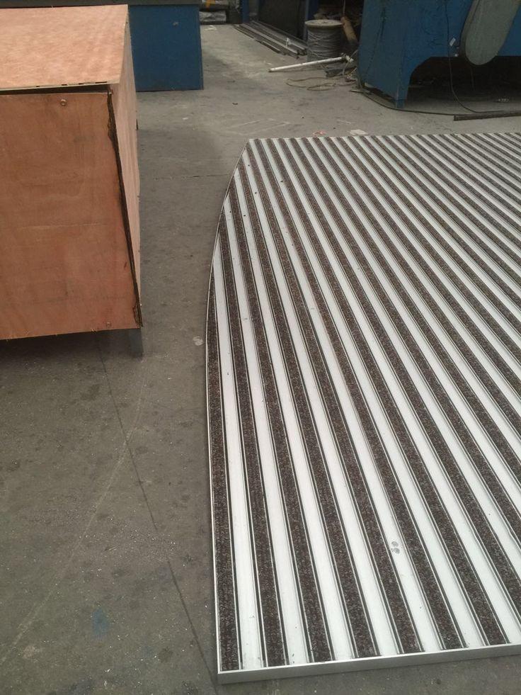 Felpudos textiles con estructura de aluminio a medida