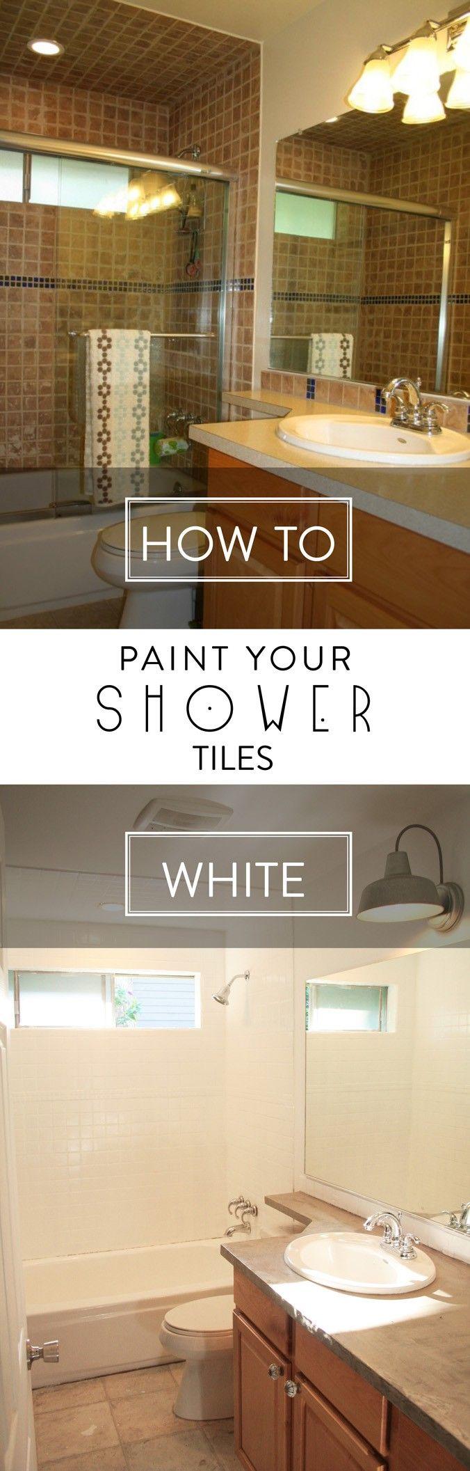 Best 25 paint bathroom tiles ideas on pinterest painting how to paint shower tiles white doublecrazyfo Gallery