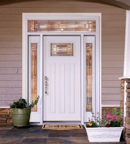 White Front Doors Feather River Door Fiberglass Entry