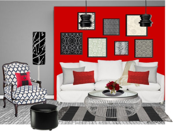 Red Accent Wall By Mbtherrell On Polyvore