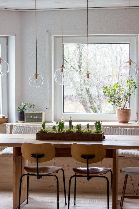 birnen in warmen ton für esszimmer lampen