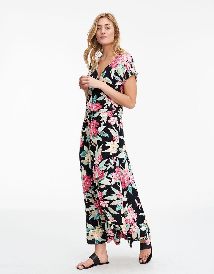ORCHID klänning svart   Print   Jersey dress   Klanningar   Mode   Indiska.com