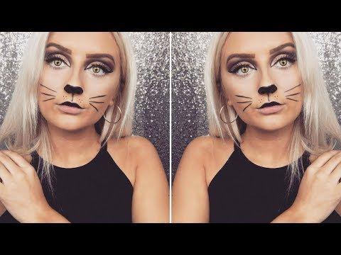 halloween cat makeup - YouTube