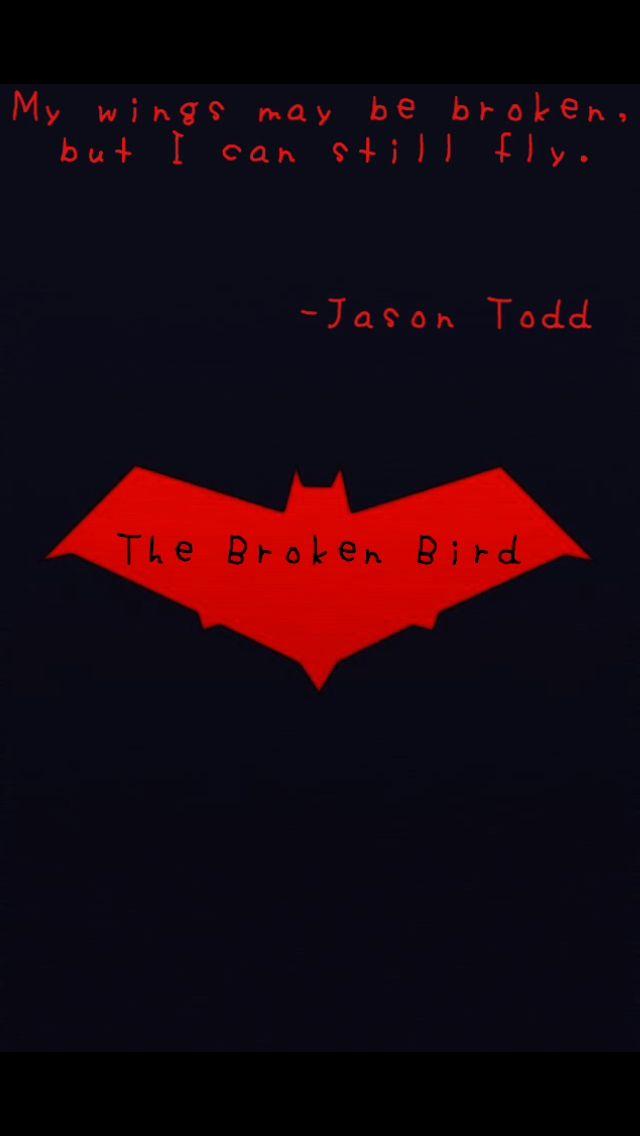 Red Hood Bat Logo