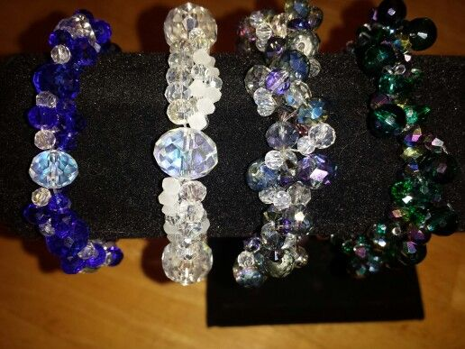 Braclets of crystal and glass