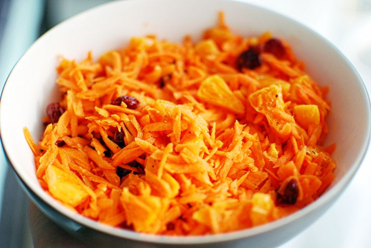 Vegan carrot salad with cranberries and mandarin | A House of Lemons