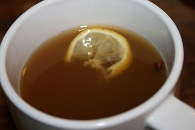 Grandma's Hot Toddy Cold Remedy - Hot tea, lemon, honey, ginger & cloves with a splash of good ole whiskey.