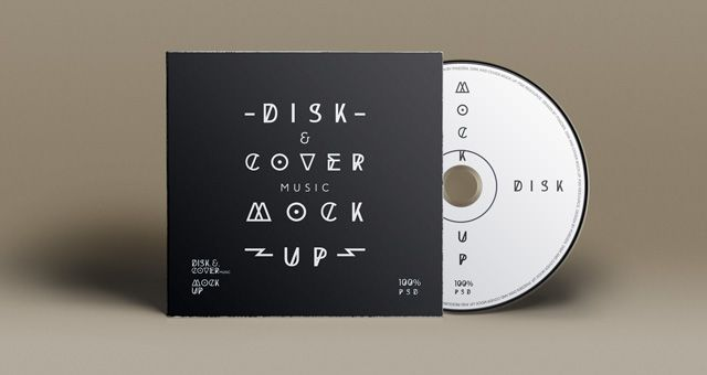 PSD CD cover disk mockup