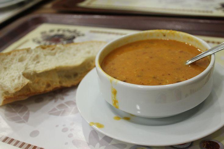 çorba, a red lentil soup
