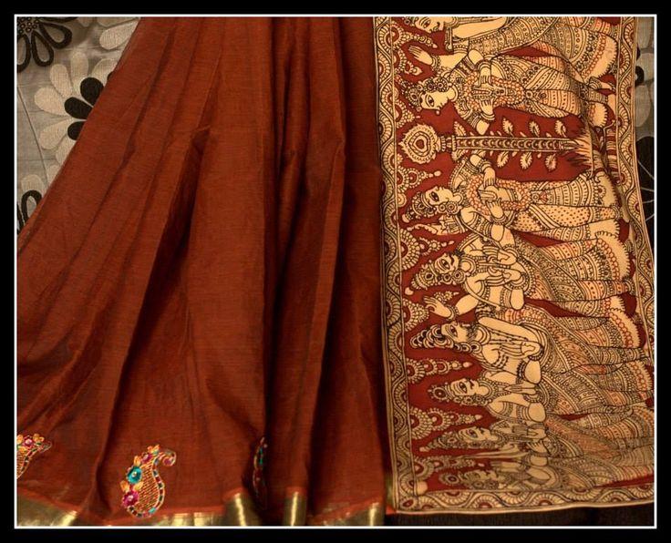 Kamalkari Patch work saree