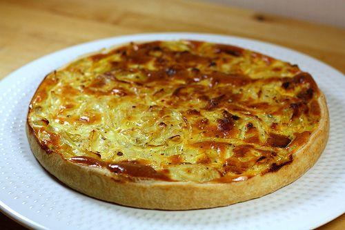 Recette de la tarte aux oignons légère | Ma p'tite cuisine