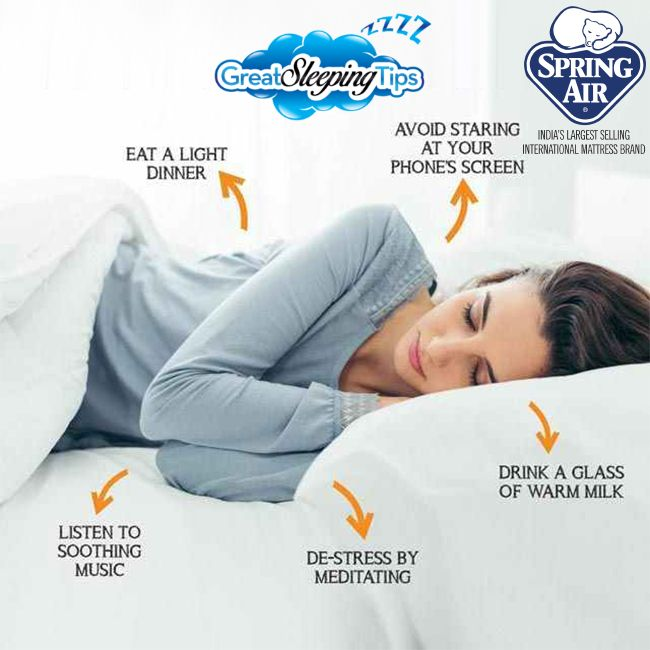 Follow The Spring Air Recommended Sleep Tips And Ensure Your Great Sleep Every Night Springairindia Mattre Sleep Better Tips Sleeping Habits For Your Health