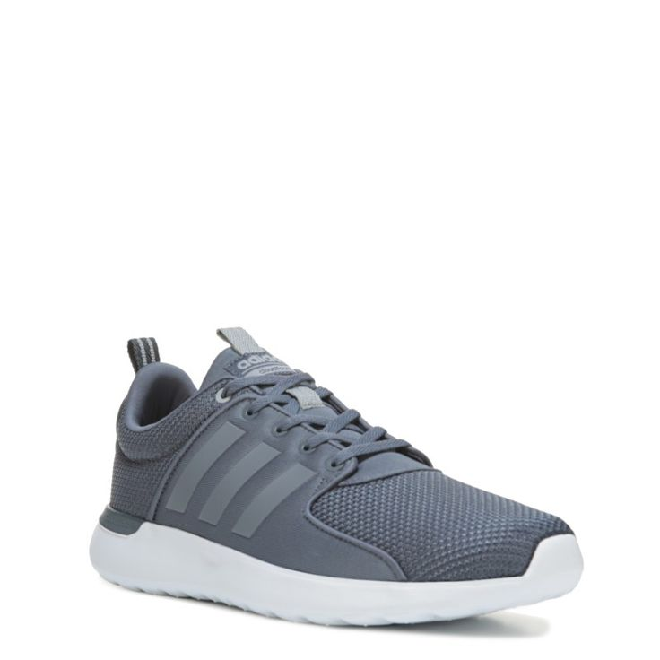 Adidas Men's Neo Cloudfoam Lite Racer Sneakers (Grey/Grey) - 13.0 M