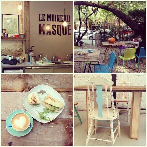 Café : Le moineau masqué   À la mode Montréal