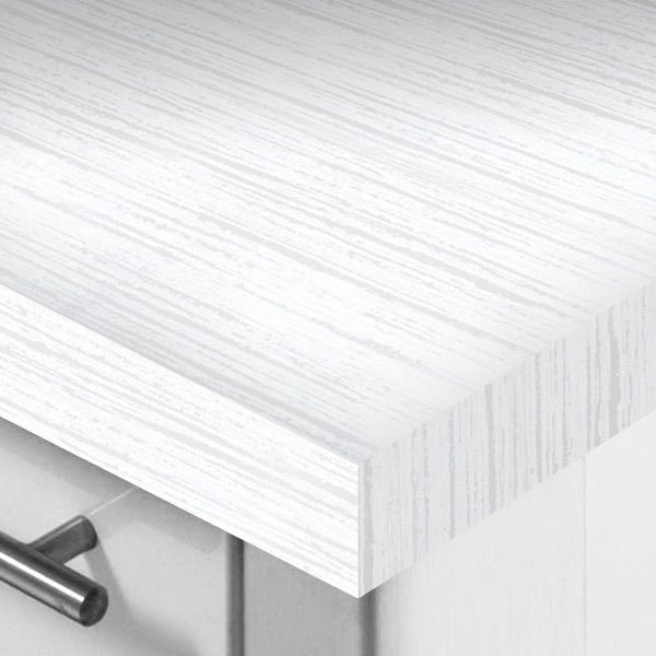 Wilsonart Designer White Laminate Worktop 3000x600x50mm - Kitchens InStock
