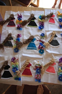 Love this idea for the quiet bookQuietbook, Book Ideas, Quiet Books, Hair Braids, Book Pages, Hair Bows, Braids Hair, Hair Braiding, Girls Hair
