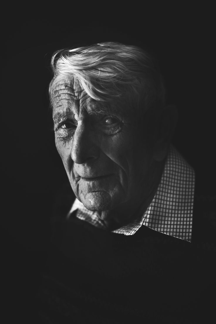 Natural light high contrast black and white photography old man my pa!
