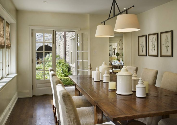Great Molding And Monotone Dining Room