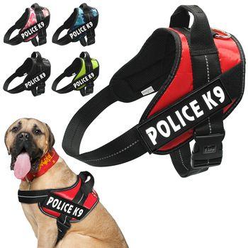 Réfléchissant Chien Harnais Pet Formation Gilet Pour Petit Meduim Grand Avec Rapide Poignée de Commande Police K9 Service Chien
