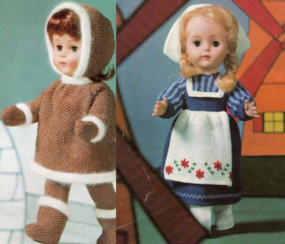 Vintage Knitting Patterns Dolls Clothes : Vintage Knitting & Crochet booklet Dolls Clothes around ...