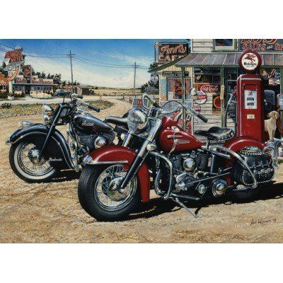 Harley Davidson Puzzles - Two For The Road http://jigsawpuzzlesforadults.com/harley-davidson-puzzles/