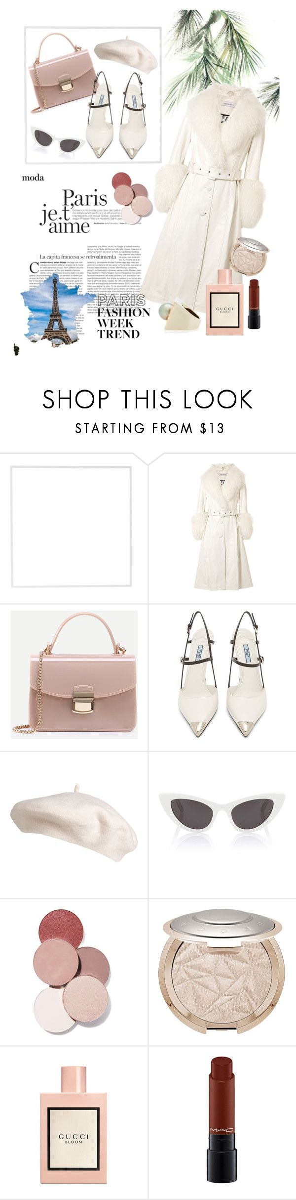 """""""Pack And Go:Paris Fashion Week"""" by denizncicek ❤ liked on Polyvore featuring Eco Style, Menu, Saks Potts, Prada, Yves Saint Laurent, LunatiCK Cosmetic Labs, Gucci, MAC Cosmetics, Alina Abegg and fashionset"""