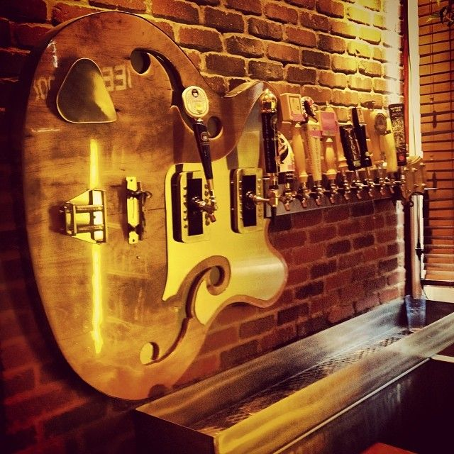 Awesome tap display guitar at South Park Tavern in Dayton, OH. Soon to have Deschutes on tap!