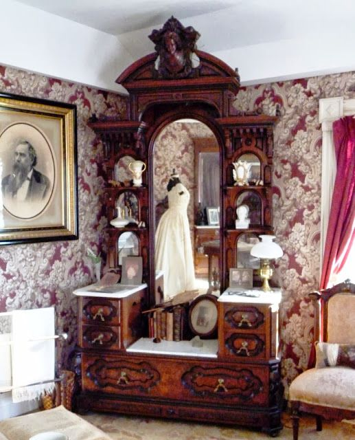 Writing Straight From The Heart: Victorian Bedroom Suite Upstairs at the Bryant House Restaurant in Vermont
