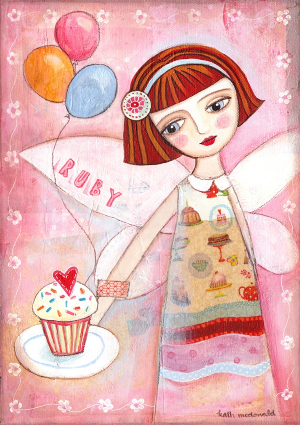 Kath McDonald - a gift for the newly arrived angel Ruby