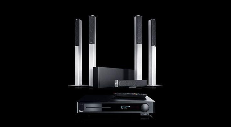 Rund um den Blu-ray AV-Receiver Teufel Impaq 8000 schnürt Lautsprecher Teufel GmbH nunmehr das 5.1-Kanal Komplett-System Teufel LT 4 Impaq.
