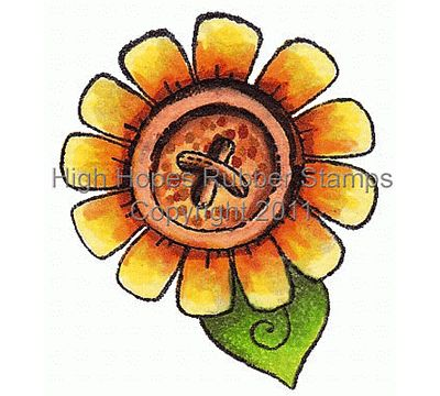 """High Hopes Stamp """"Daisy Button"""" H248"""