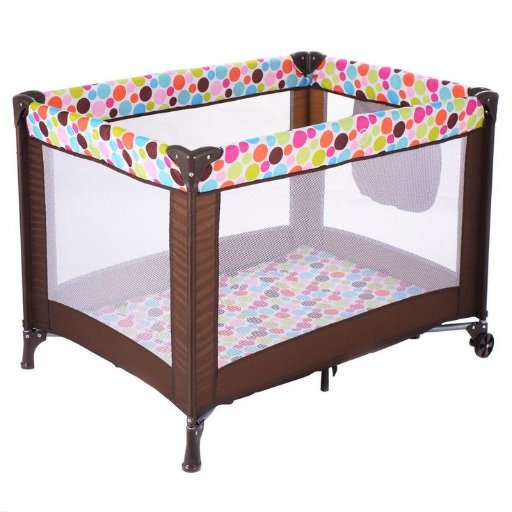 Foldable Baby Playpen Newborn Bed Travel Crib Infant Playard Portable Bassinet #Unbranded