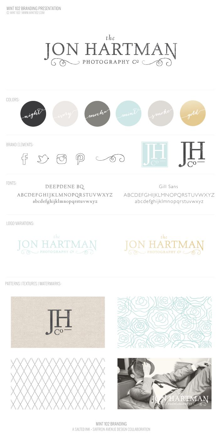 New Brand Launch: Jon Hartman Photography Co. - Salted Ink Design Co.
