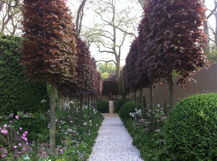 Laurent Perrier garden - a symphony in dusky pinks and mauves