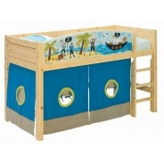 Semi-high Bed with front Pirate  lifetimekidsrooms