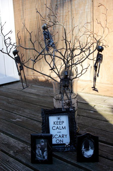 "Dollar Store Halloween Decor-- I love the ""Keep Calm and Scary On""!"