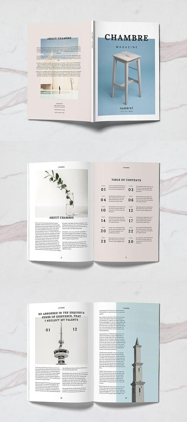 Chambre Magazine Template #brochure #template #indesign #magazine #lookbook #portfolio #catalog #lifestyle #fashion #photography