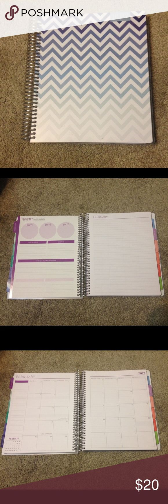 2016-2017 New Academic Planner Never before used planner Other