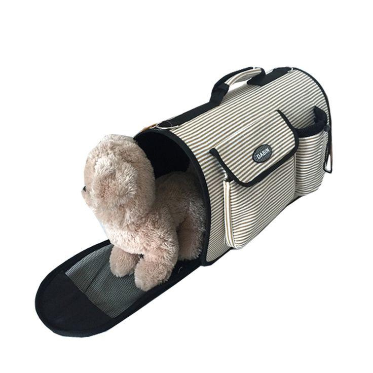 Novo Saco de Portador Do Cão Listrado Lona Pano Bolsa de Moda Portátil Bolsa de Ombro de Viagem Para Animais de Estimação do Filhote de Cachorro Do Cão Do Gato
