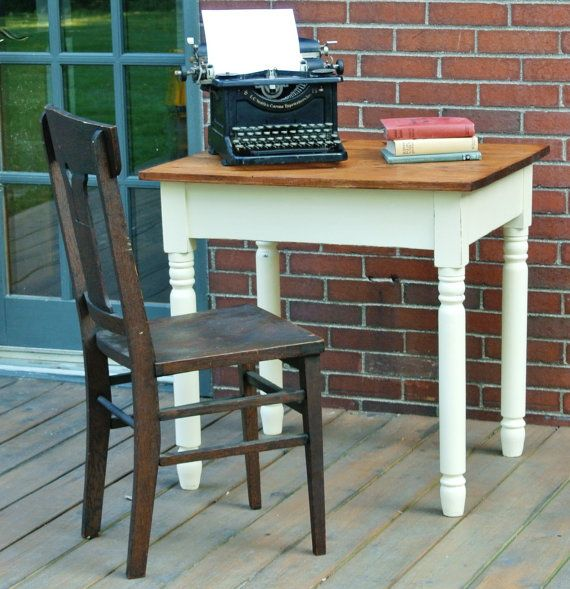 Small antique table or desk. Kitchen study by MilkweedVintageHome, $75.00