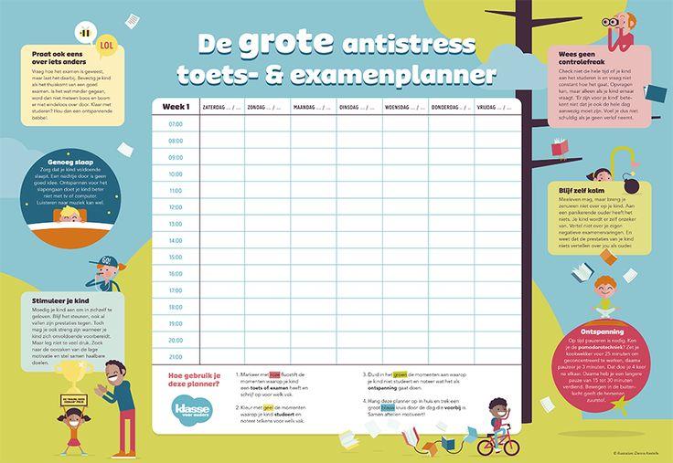 Begin op tijd met de voorbereidingen met een handige toetsen- en examenplanner.