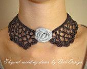 Crochet Collar. Hand made. Collar Necklace Peter Pan.