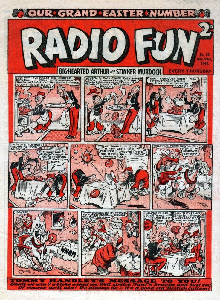 "Easter 1940 edition of ""Radio Fun"", with Arthur Askey and Richard ""Stinker"" Murdoch."