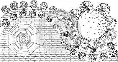 Disegno Della Cascata Illustrazione Vettoriale - Immagine: 68389180