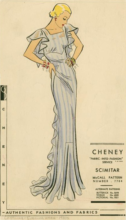 Vintage sewing pattern. So pretty!