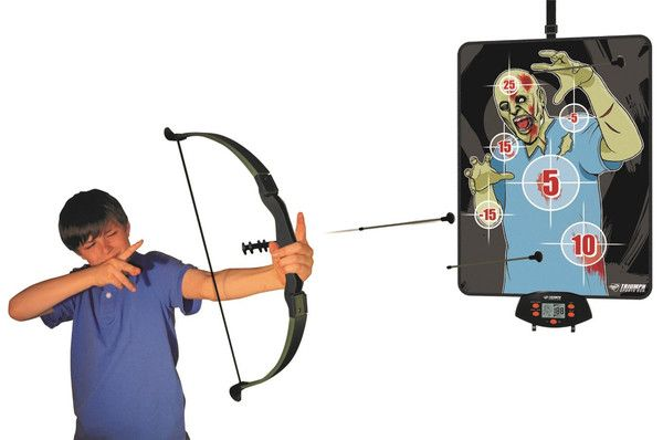 Triumph Sports Over the Door Bow Hunt Zombie Hunting Game This Over the Door Oversized Zombie Hunting Game is a great game for practicing your archery skills!
