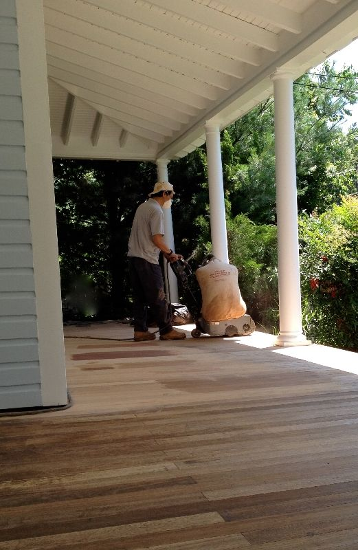 Restoring our Victorian home -- DIY Front Porch project… we sand and stain the floor... And I HATE the color.