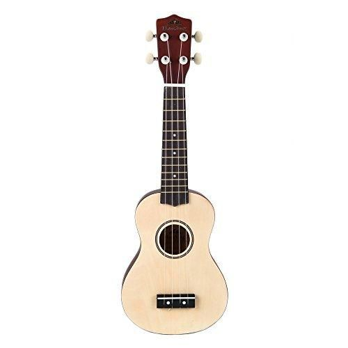 """Honsing Ukulele New Basswood Soprano Ukulele Hawaiian Guitar 21"""" - Wood Color"""