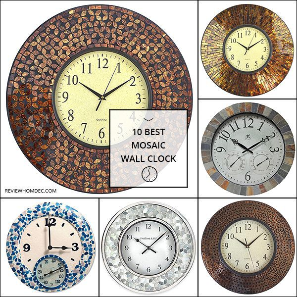 10 Best Mosaic Wall Clock Mosaic Wall Clock Wall Clock